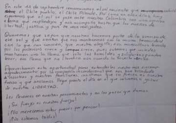 Esta es la carta de Liset, Lorena y Paola agradeciendo por la solidaridad