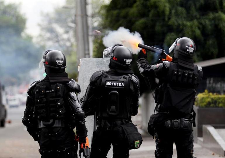 ESMAD reprime protestas contra proyectos petroleros en Sáchica, Boyacá