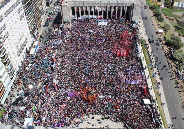 70 mil mujeres argentinas contra el patriarcado y el ajuste