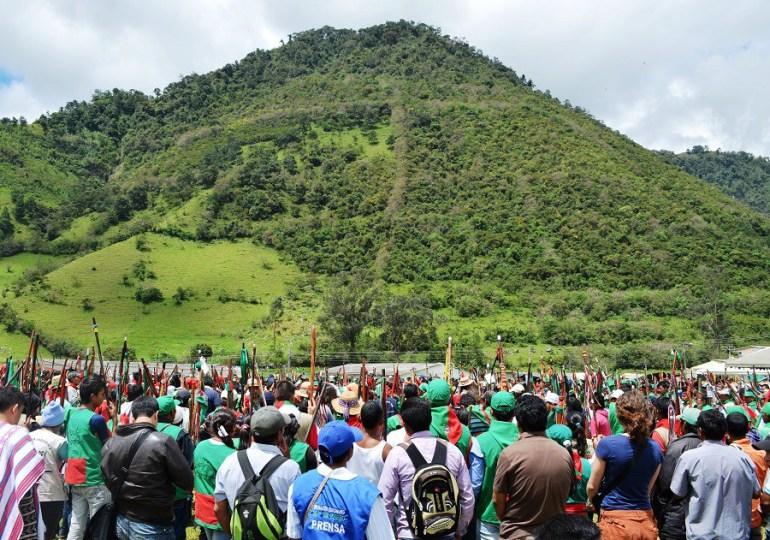 Continúa proceso de liberación de la madre tierra en Aguas Tibias, Cauca