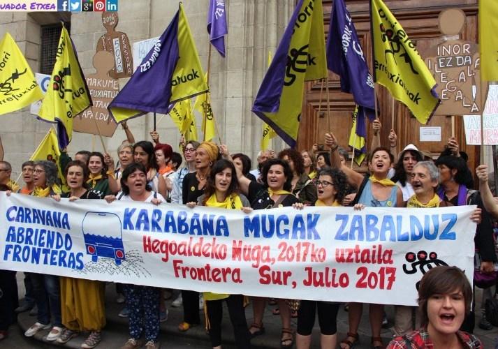 Más de 500 personas recorren España exigiendo la acogida de las y los refugiados