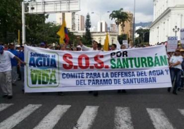 Masiva marcha en Santander exige que se proteja el páramo de Santurbán