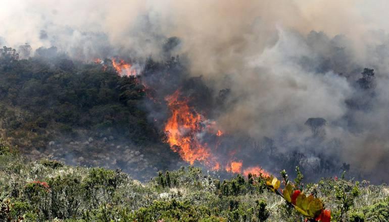 Casanare y 32 departamentos en alerta roja por incendios forestales