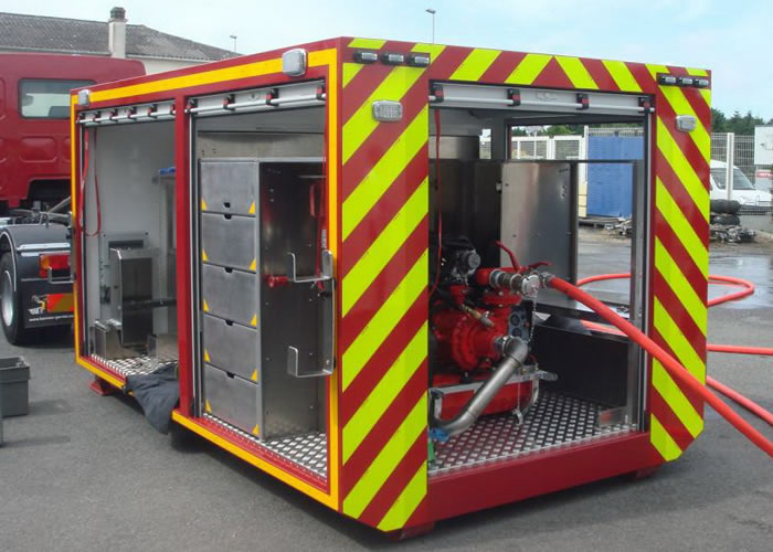 Converted Shipping Container - Emergency unit