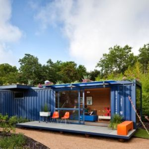Converted Shipping Container To Garden Retreat