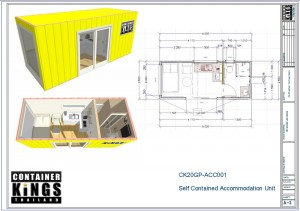 Container Kings Thailand - 20ft Accommodation / Office Unit 001