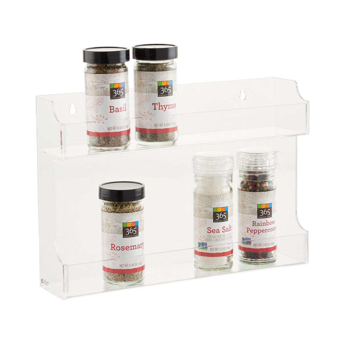 double acrylic spice rack