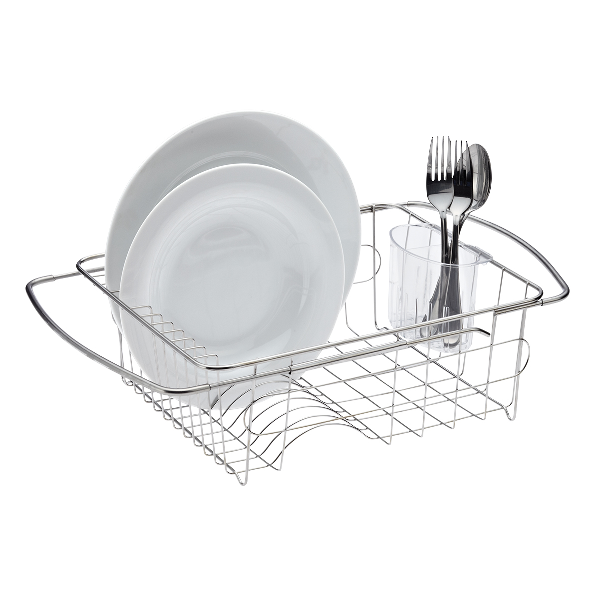 stainless steel in sink dish drainer