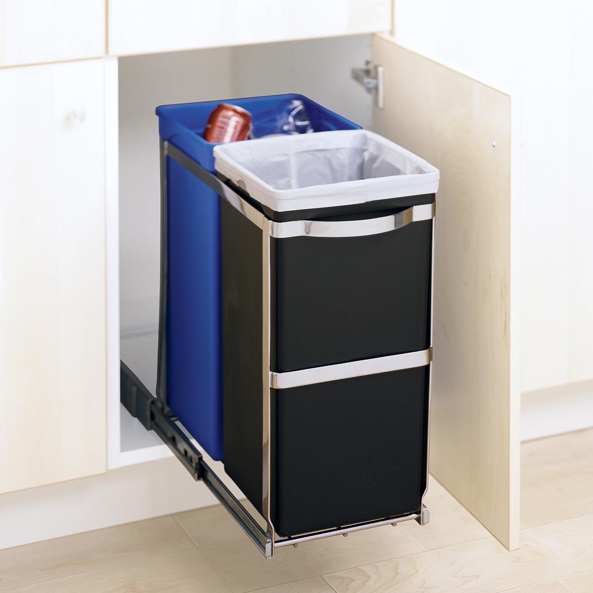 kitchen under sink cabinet trash waste