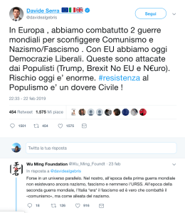 Davide Serra, tweet