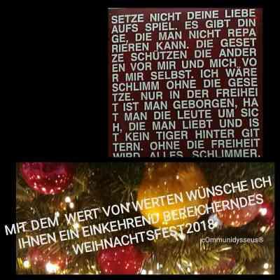 In der Weihnachtszeit Werte überdenken