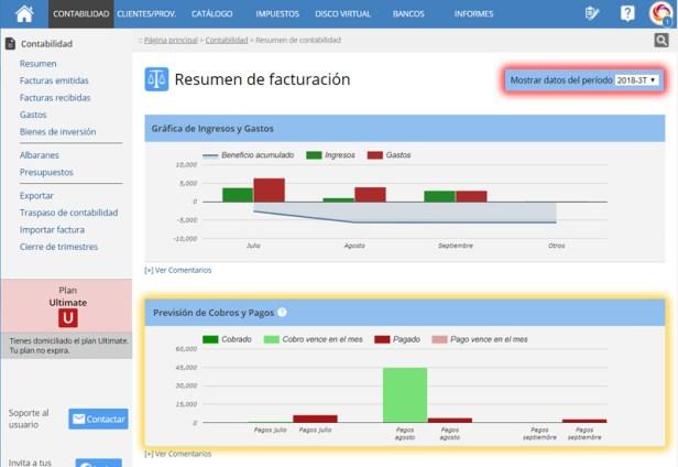 Control de gastos e ingresos online para pymes y autonomos