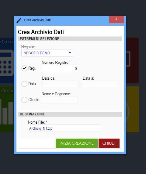 Creazione archivio zip software compro oro