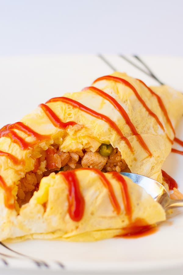 Cheaters Japanese Omelette Rice Known In Japan As Omurice You Dont Need