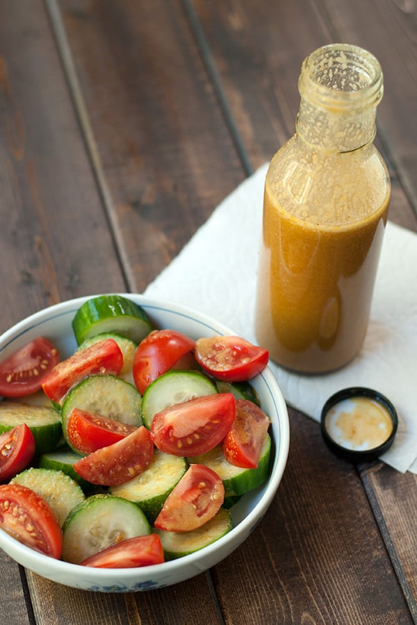 Sesame Dressing made with veggies