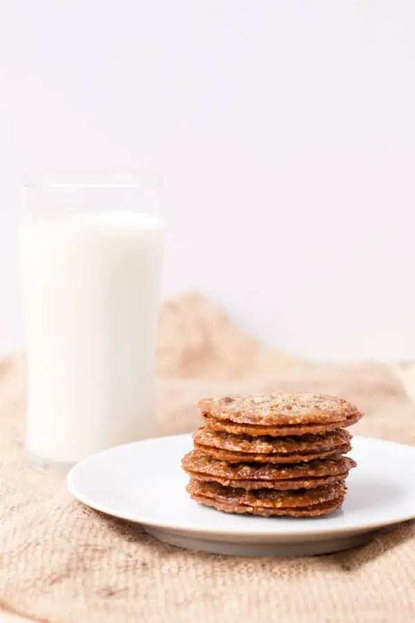 Milk Chocolate Florentine (Lacey) Cookies