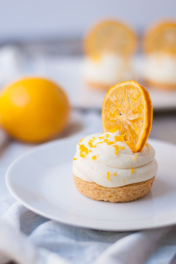 Meyer lemon white chocolate cheesecake