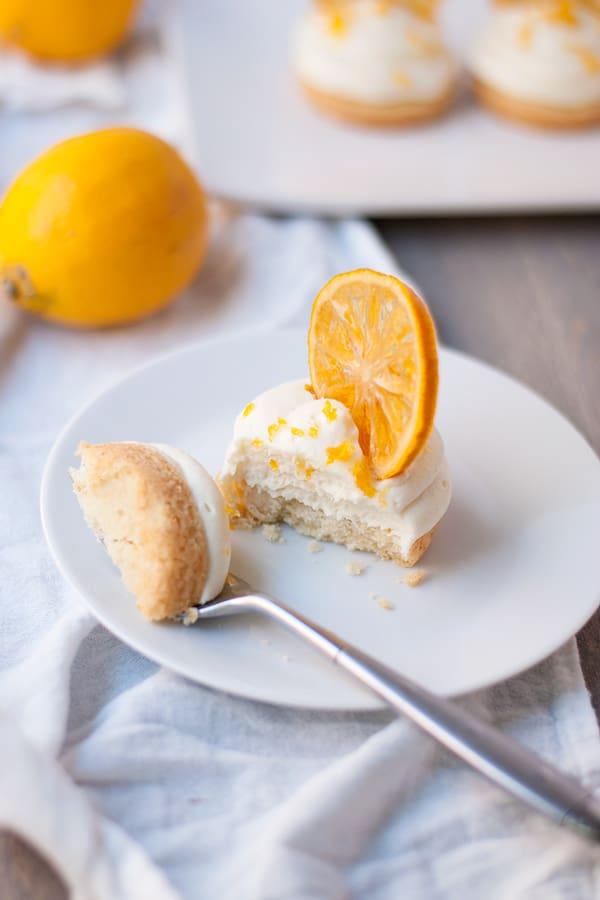 Meyer lemon white chocolate cheesecake bites