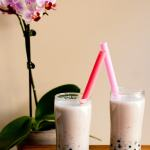 Easy red bean bubble tea