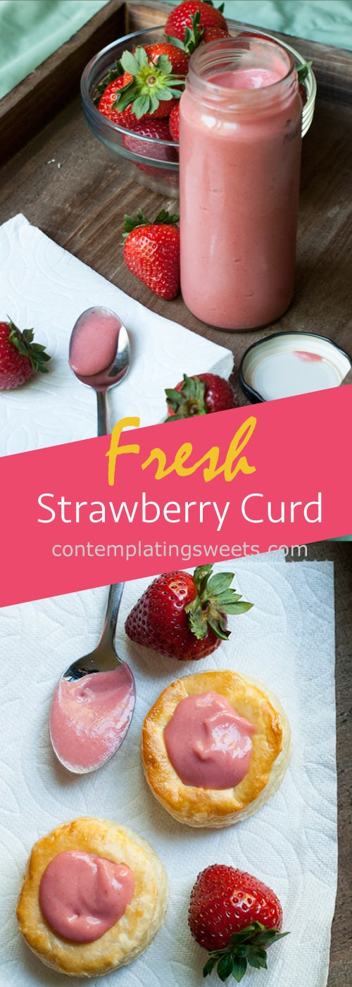 Homemade strawberry curd