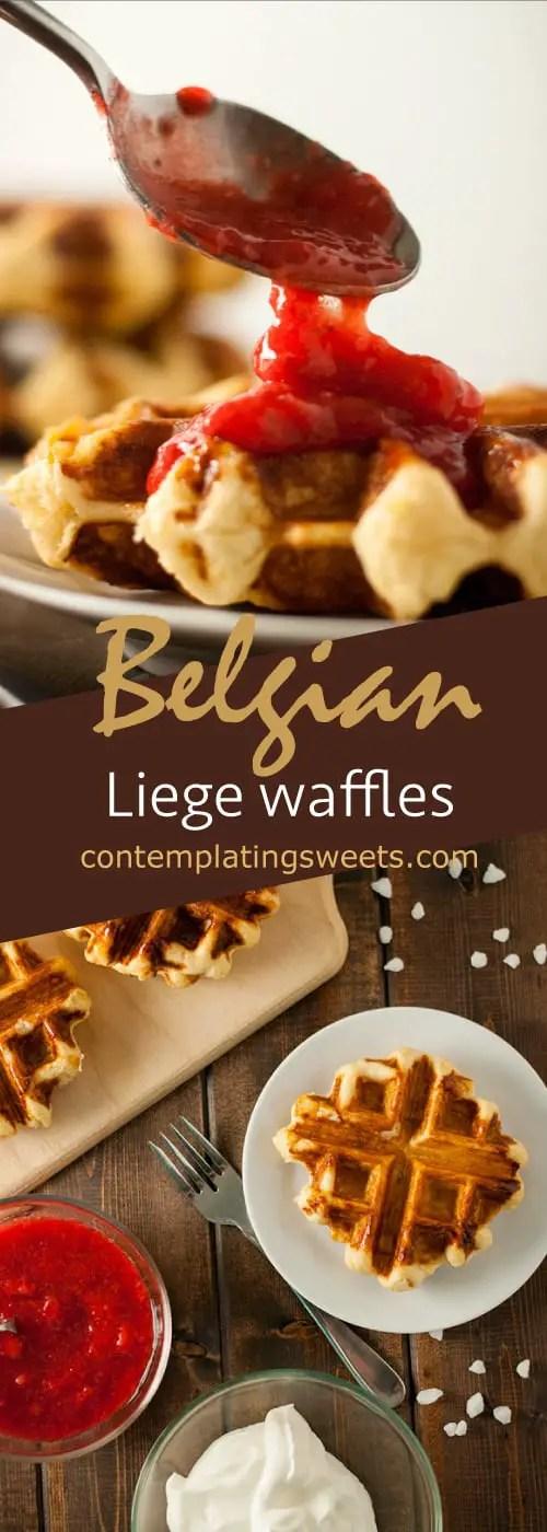 Belgian liege waffles
