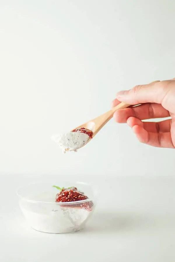Strawberry Yogurt Mousse
