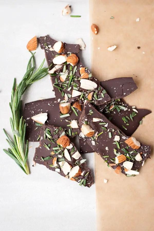 Dark Chocolate Rosemary Bark