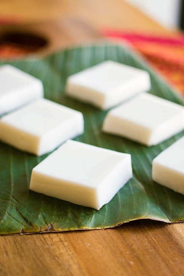 Hawaiian Haupia (coconut pudding)