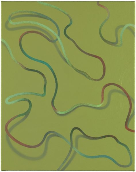 Lüür (2015) by Tomma Abts. Acrylic and oil on canvas