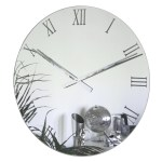 Uk Roco Verre Extra Large Roman Mirror Wall Clock Contemporary Heaven