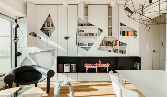 Apartment In Poznan With Contemporary Pendant Lamps