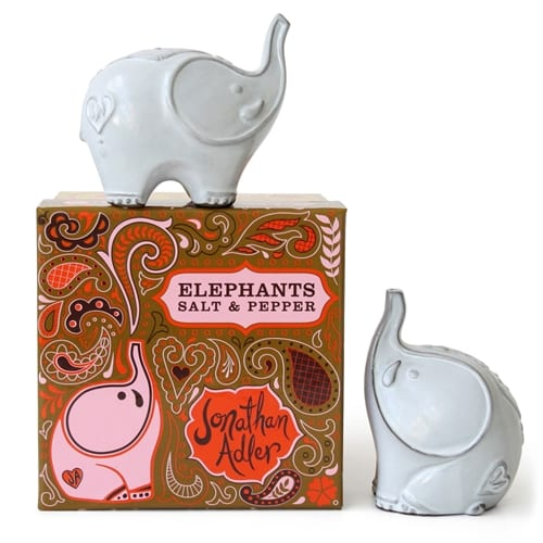 Elephant Salt and Pepper Shakers | Jonathan Adler