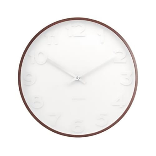 Karlsson Mr White Numbers Clock Wooden | Large