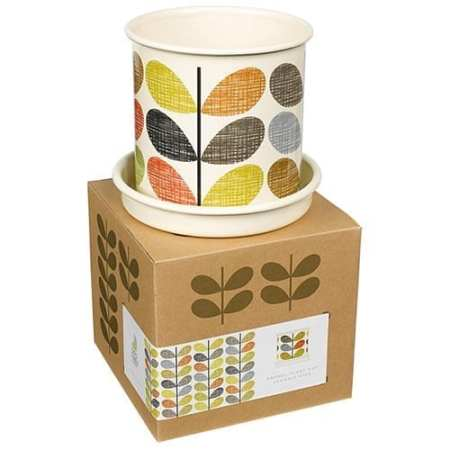 Orla Kiely Planter Pot Scribble Stem Small