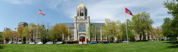muhlenberg college's Hass building and lawn