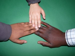 hands three skin tones