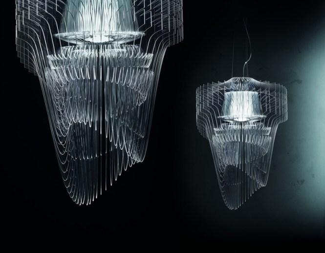 Aria Transpae Chandelier By Zaha Hadid Architects