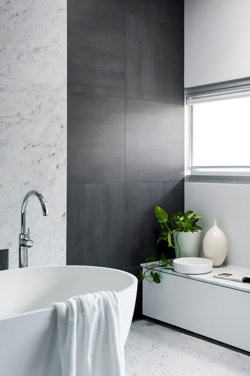 12 Photos Of An Understated Elegant Monochromatic Bathroom ... on Monochromatic Bathroom Ideas  id=58048