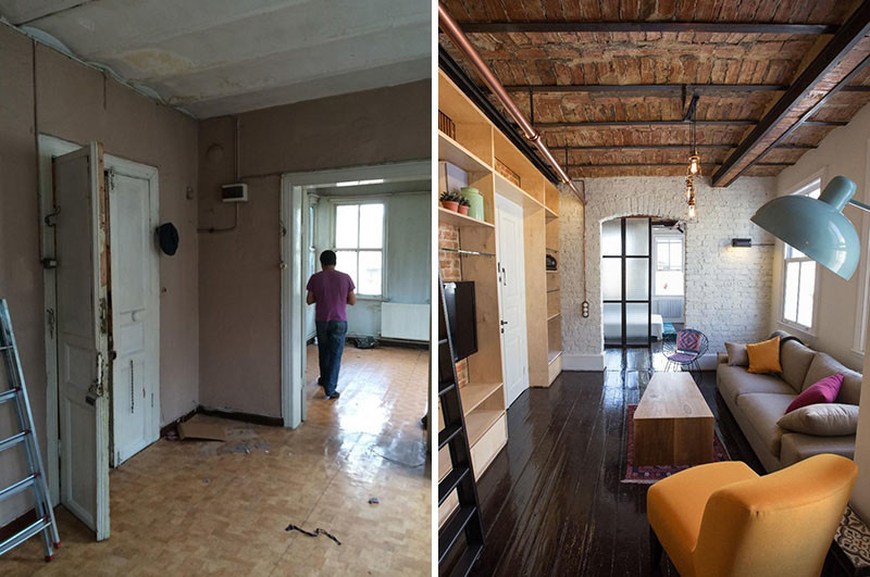 Before Amp After An Apartment Makeover Inside An Old