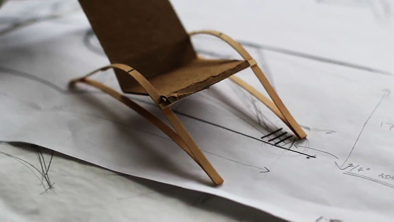 See How This Bow Spring Chair Was Made