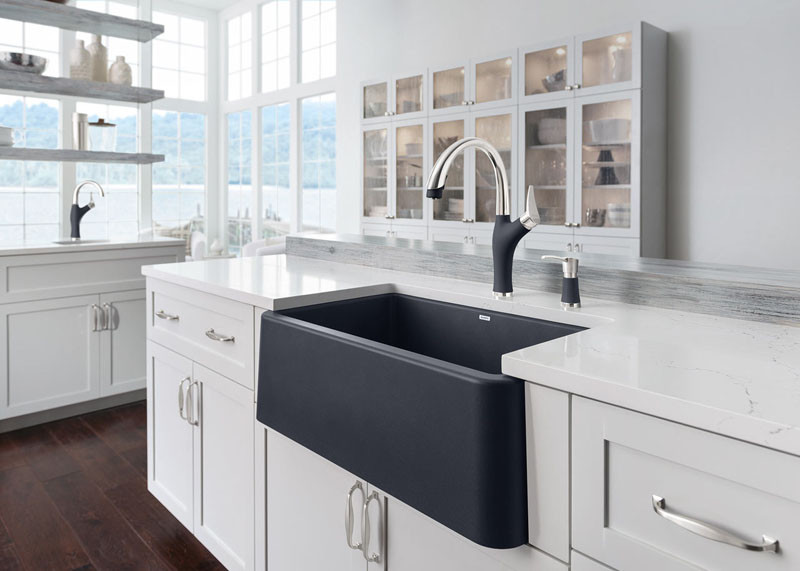 Never Let Anyone Tell You That Farmhouse Sinks Cant Be Contemporary CONTEMPORIST