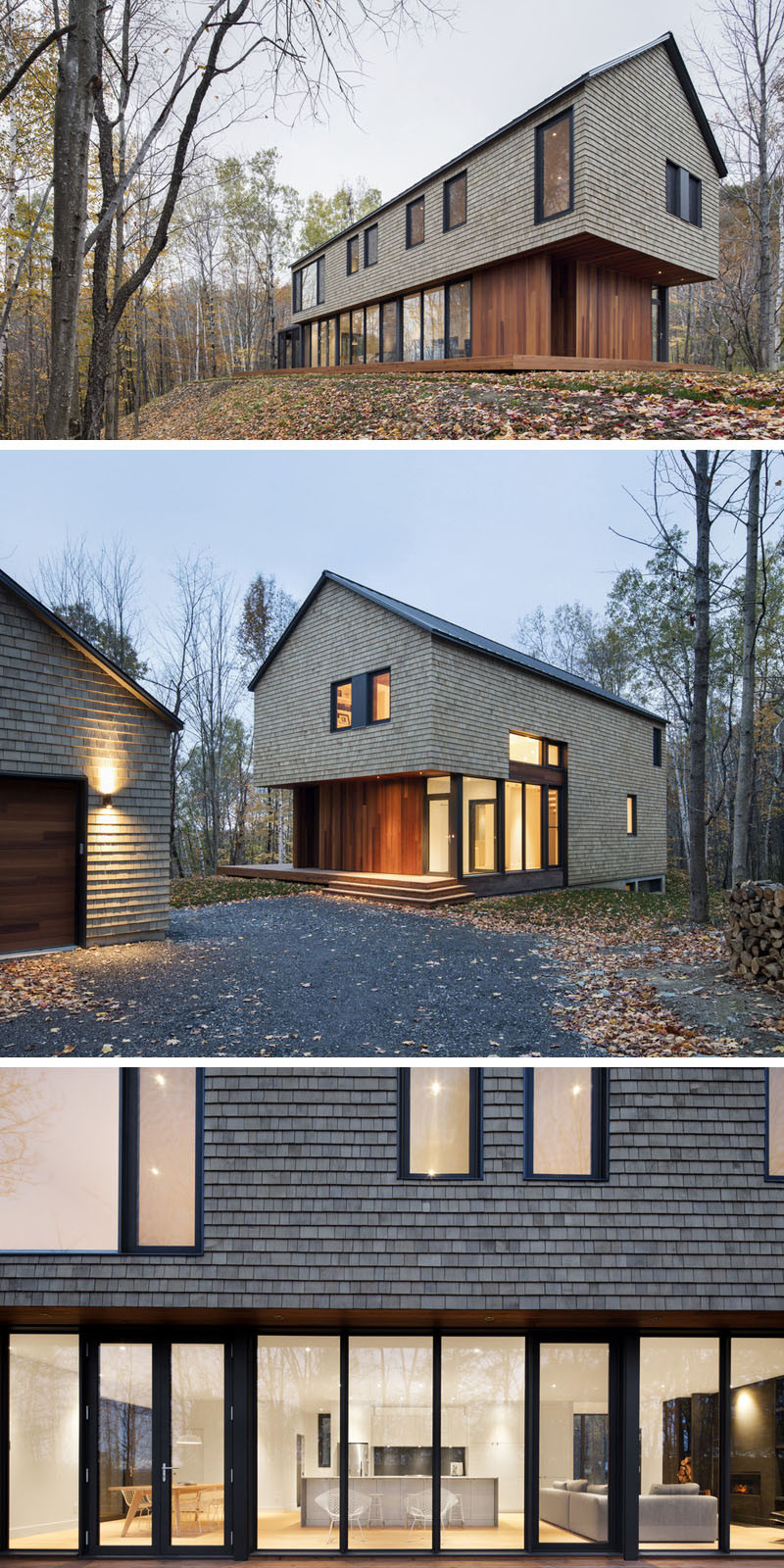 13 Examples Of Modern Houses With Wooden Shingles on Modern House Siding  id=20880