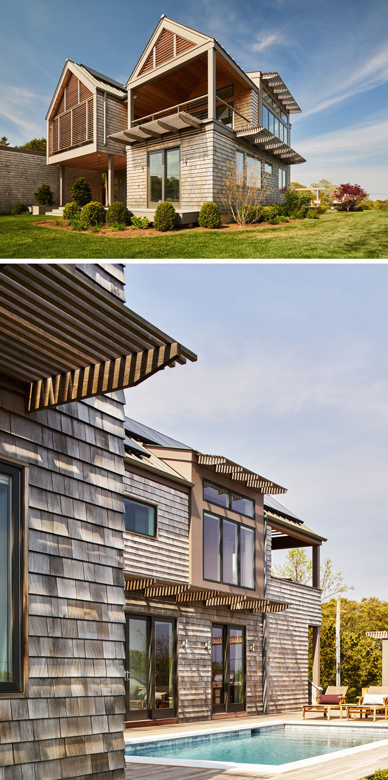 13 Examples Of Modern Houses With Wooden Shingles on Modern House Siding  id=42602