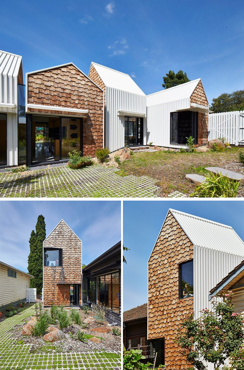13 Examples Of Modern Houses With Wooden Shingles ... on Modern House Siding  id=52526