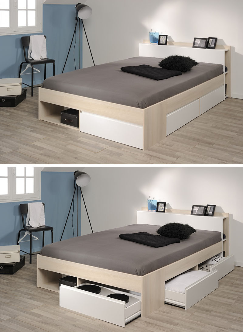 Image result for bed with compartments