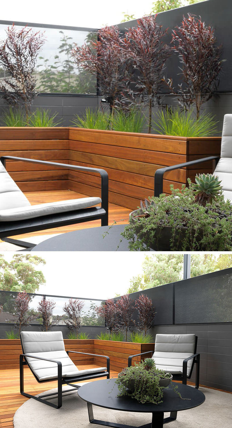wood planters in your outdoor space