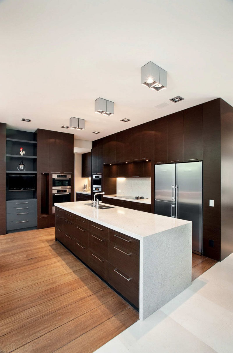 9 Inspirational Kitchens That Combine Dark Wood Cabinetry ... on Maple Kitchen Cabinets With Dark Wood Floors Dark Countertops  id=33556