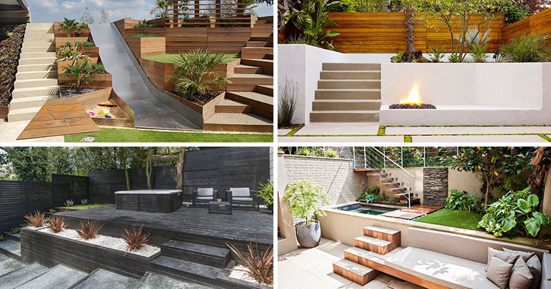 13 Multi-Level Yards To Get You Inspired For Backyard ... on 2 Level Backyard Ideas id=96398