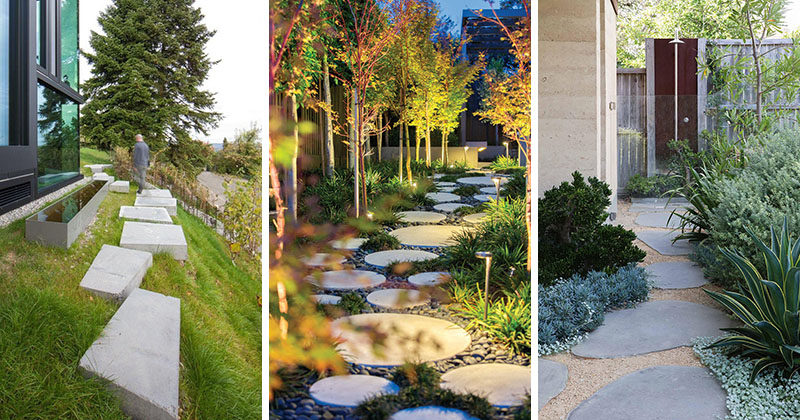 10 Landscaping Ideas For Using Stepping Stones In Your ... on Stepping Stone Patio Ideas  id=49327