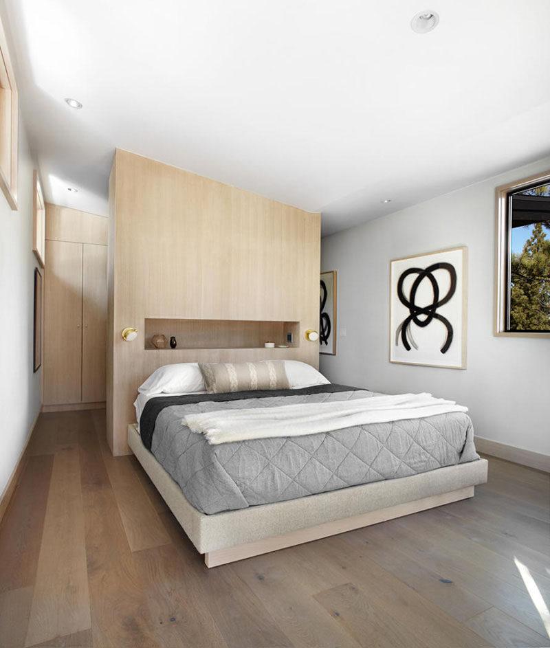 Headboard Design Idea Include A Built In Shelf
